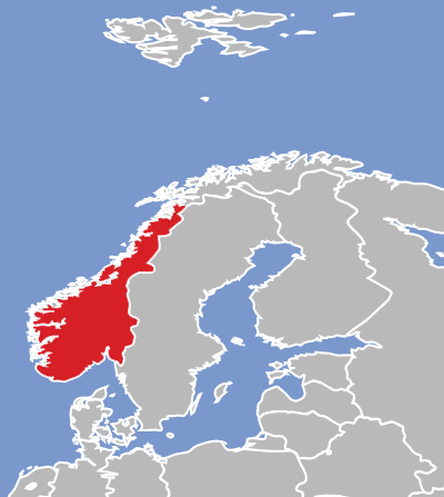 NorwegianNynorsk Eatoni - Norway language map