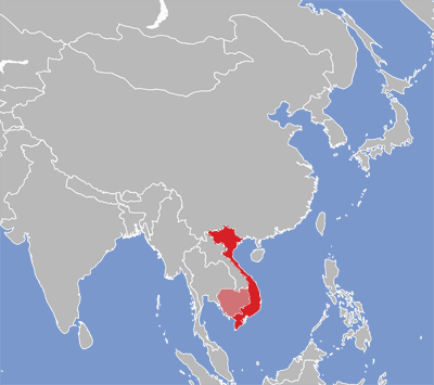 Vietnamese Eatoni - World map in vietnamese language