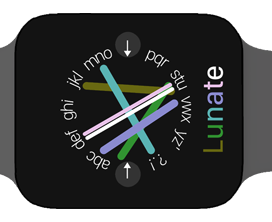 Lunate: How we will type on smart watches.