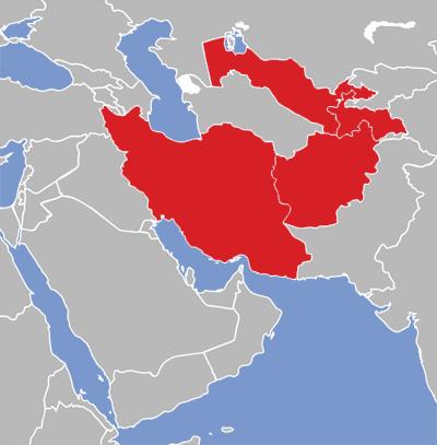 Persian Eatoni - Farsi language map